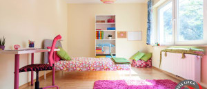 Interior of a modern room for a girl